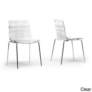 Baxton Studio Marisse Plastic Modern Dining Chairs (Set of 2)