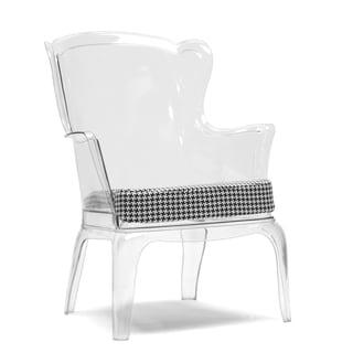 Baxton Studio Tasha Clear Polycarbonate Modern Accent Chair
