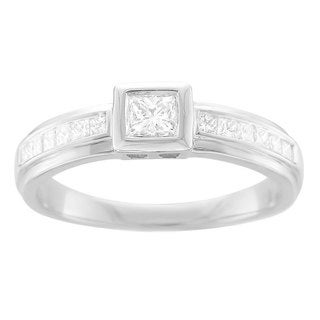 14k White Gold 1/2ct TDW Princess Diamond Engagement Ring (H-I, I1-I2)