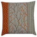 Orange Tree Pine Rope Throw Pillow