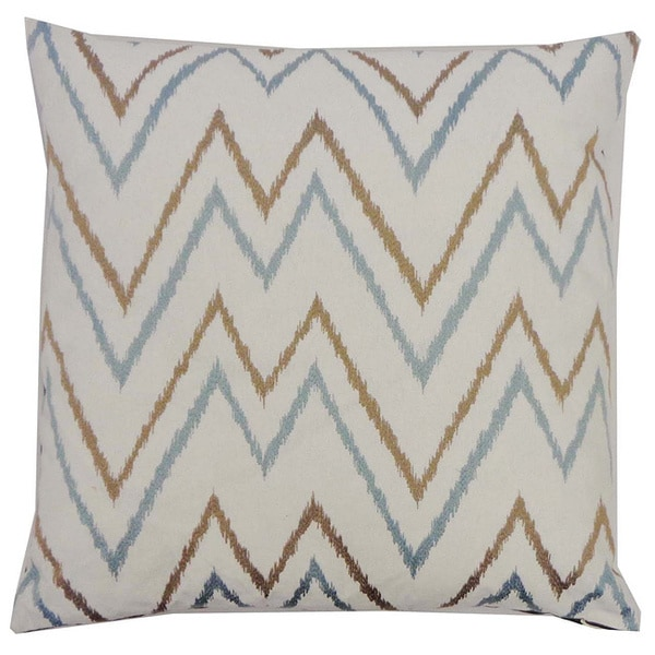 Teal Sienna Zig-zag Throw Pillow