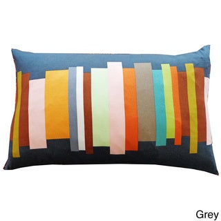 Jiti Multicolored Brushes Throw Pillow