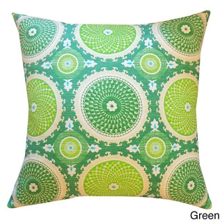 Green or Rust Coil Throw Pillow