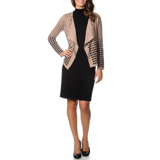 Lennie for Nina Leonard Women's 2-piece Polka Dot Sweater Dress