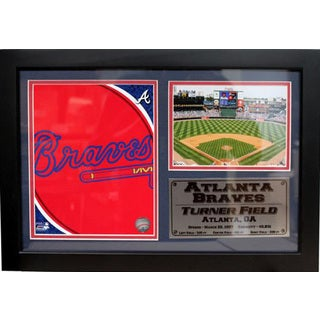 Atlanta Braves 12 x 18 Team Logo Photo Stat