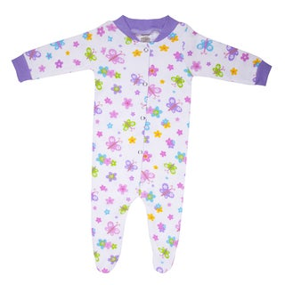 Funkoos Organic Cotton Sleepsuit in Butterfly Garden