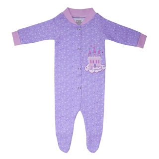 Funkoos Girls Organic Cotton Sleepsuit in Little Princess