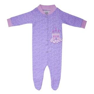 Funkoos Girls Organic Cotton Sleepsuit in Little Princess