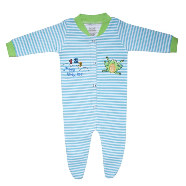 Funkoos Boys 1-2-3 Jump Organic Cotton Sleepsuit