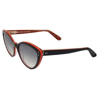 Lafont Women's 'Fiesta 100' Black/ Red Retro Sunglasses