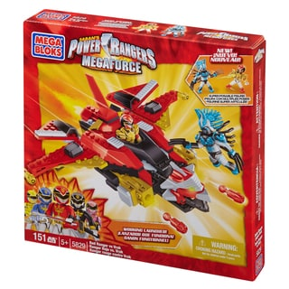 Mega Bloks Power Rangers Megaforce Red Ranger vs. Vrak