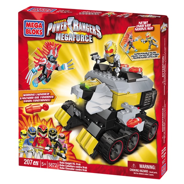Mega Bloks Power Rangers Megaforce Robo Knight vs Vrak