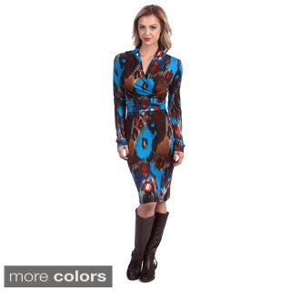 Amelia Women's Woodland Rain Printed Knit Dress