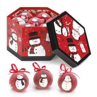 Happy Snowman Ornament Set (Set of 12)