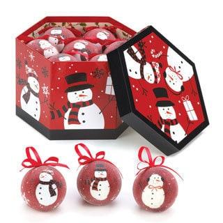 Happy Snowman Ornament Set (Set of 12)