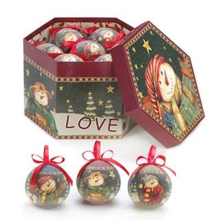 Winter Snowman Ornaments (Set of 12)