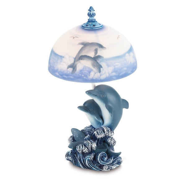 Blue Dolphin Lamp