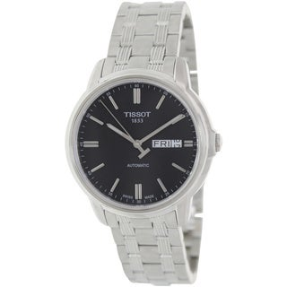 Tissot Men's Automatic lll T065.430.11.051.00 Silver Stainless-Steel Automatic Watch with Black Dial