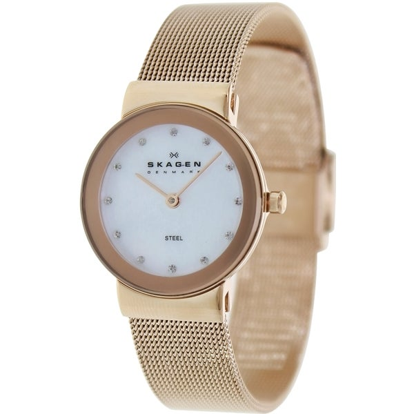 Skagen Women's Rosegold Stainless Steel Analog Quartz Watch
