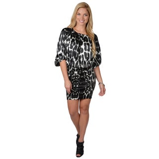 Jessica Simpson Women's Printed Scoop Neck Blouson Dress