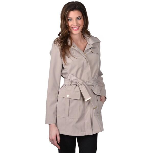 Calvin Klein Women's Belted Trench Coat w/ Hood