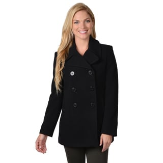 Calvin Klein Women's Double Breasted Wool Pea Coat