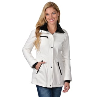 Jessica Simpson Women's Faux Fur Trim Pocket Detail Coat