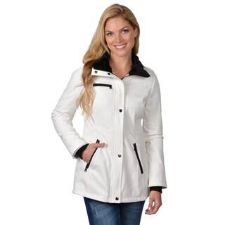 Jessica Simpson Women's Faux Fur Trim Pocket Detail Coat