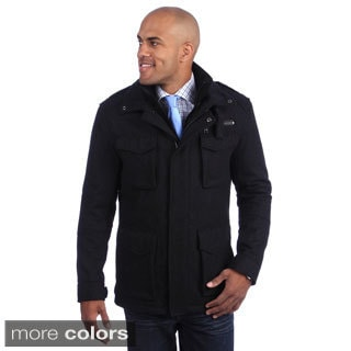 Andrew Marc Men's 5-pocket Wool Blend Coat