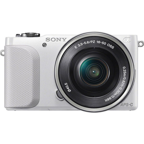 Sony alpha NEX-3N 16.1MP White Mirrorless Digital Camera with 16-50mm Lens