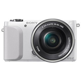 Sony Alpha NEX-5R Mirrorless Camera White Body with 16-50mm Lens Kit