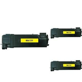 INSTEN Yellow Toner Cartridge for Xerox Phaser 6125