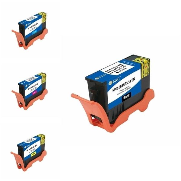 INSTEN Black/ Cyan/ Magenta/ Yellow 4-Ink Cartridge Set for Dell 31, 32, 33, 34