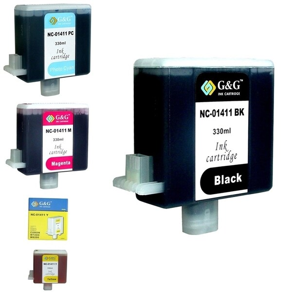 INSTEN Magenta/ Yellow/ Cyan/ Black 4-Ink Cartridge for Canon BCI-1411