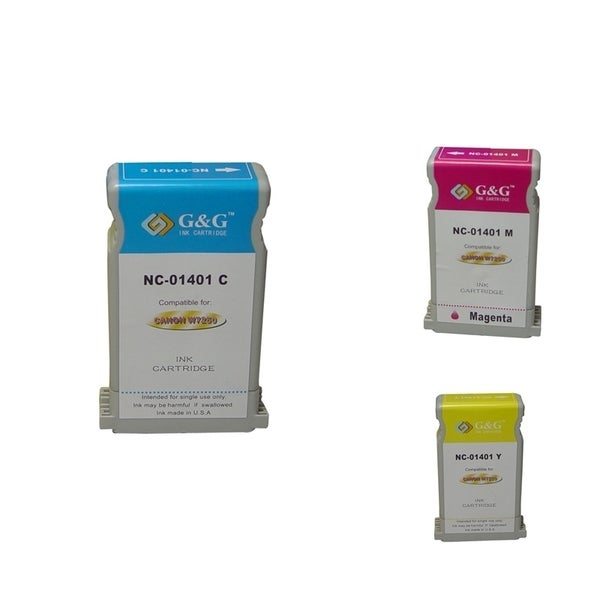 INSTEN Cyan/ Magenta/ Yellow 3-Ink Cartridge Set for Canon BCI-1401
