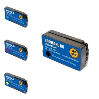 HP 950XL/ 951XL Black/ Cyan/ Magenta/ Yellow 4-Ink Cartridge Set (Remanufactured)