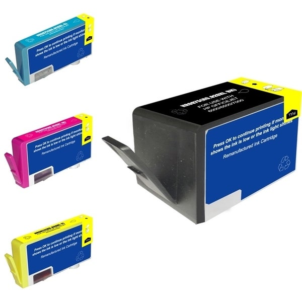 INSTEN HP 920XL Black/ Cyan/ Magenta/ Yellow 4-Ink Cartridge Set (Remanufactured)