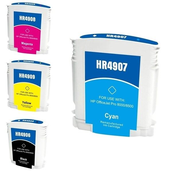INSTEN HP 940XL Cyan/ Magenta/ Yellow/ Black 4-Ink Cartridge Set (Remanufactured)