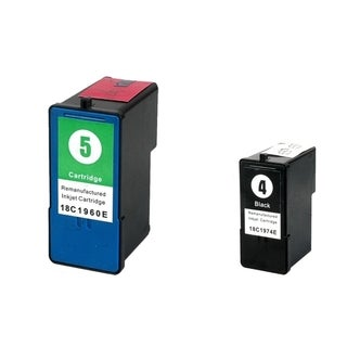 Lexmark 5/ 4 Color/ Black 2-Ink Cartridge Set (Remanufactured)