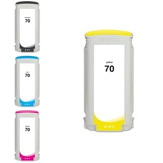 INSTEN HP 70 Yellow/ Matte Black/ Cyan/ Magenta Pigment 4-Ink Cartridge Set (Remanufactured)