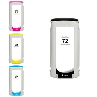INSTEN HP 72 Photo Black/ Yellow/ Magenta/ Cyan 4-Ink Cartridge (Remanufactured)