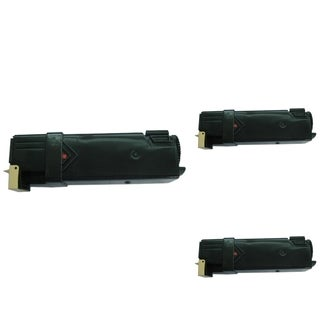 BasAcc Magenta Toner Cartridge Compatible with Xerox Phaser 6128 (Pack of 3)