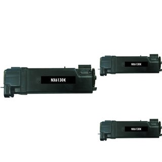 BasAcc Black Toner Cartridge Compatible with Xerox Phaser 6130 (Pack of 3)