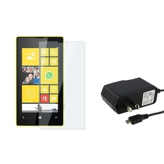 BasAcc Travel Charger/ Screen Protector for Nokia Lumia 520