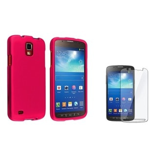 BasAcc Hot Pink Case/ LCD Protector for Samsung Galaxy S4 Active i9295