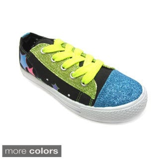 Blue Children's 'K-Stars Glitz' Star Print Canvas Sneakers