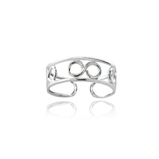 Mondevio Infinity Cut-out Toe Ring