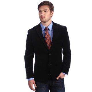 Alfani Men's Black Slim Fit Cotton Velvet Sportcoat