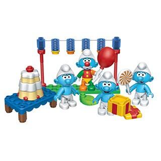 Mega Bloks Smurfs Smurf's Celebration Playset