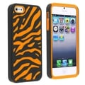BasAcc Orange/ Black Zebra Hybrid Case for Apple iPhone 5/ 5S